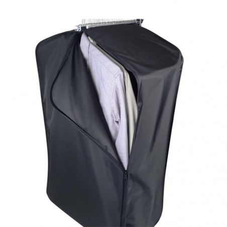 Black garment bag with side opening  70,00€ - garment bags for professionnals