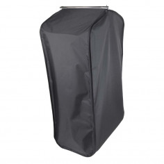 Black garment bag with side...