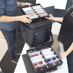 Selection-Koffer 43204W Selection-Koffer Präsentationsschrank Brillen - Monturen transportieren für Mobile Optiker