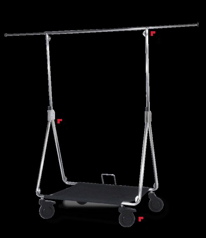foldable clothes rail description