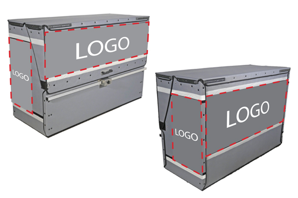 removable tarps branded with your logo or company advert.
