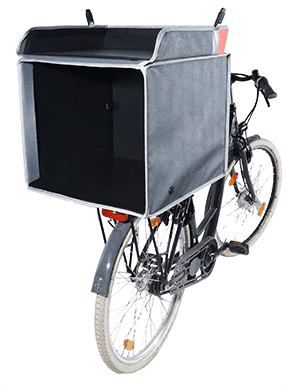 Contenant vélo pour pizza
