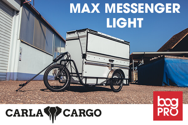 New Max Messenger light deveopped by Bag PRO GmbH and CARLA CARGO
